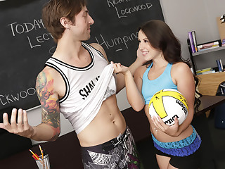 Young beautiful schoolgirl Lola Foxx gets banged by a horny dude